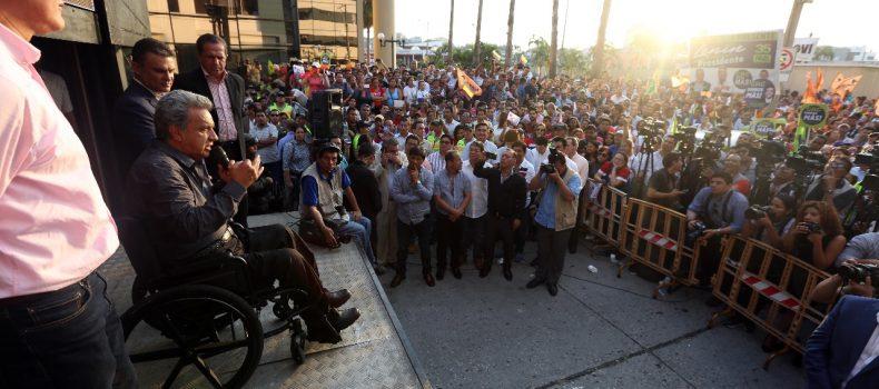 """""""LO ÚNICO QUE PUEDO GARANTIZAR ES LA INDEPENDENCIA DE FUNCIONES Y LA TRANSPARENCIA"""": PRESIDENTE LENÍN MORENO"""