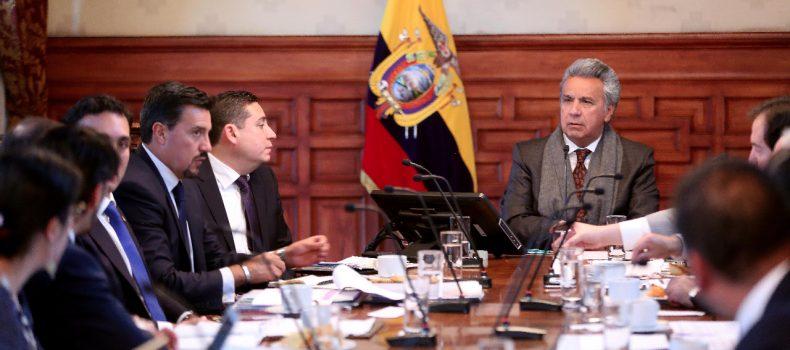 PRESIDENTE LENÍN MORENO LIDERA CONSEJO SECTORIAL DE POLÍTICA EXTERIOR Y PROMOCIÓN