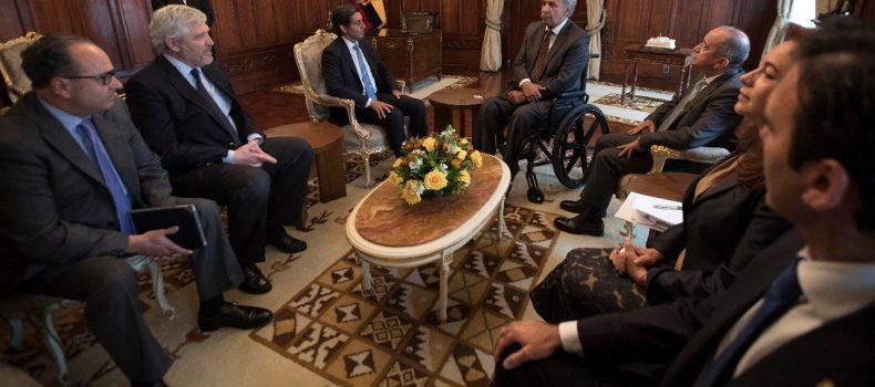 TELEFÓNICA COMUNICÓ AL PRESIDENTE LENÍN MORENO SU COMPROMISO DE AFIANZAR INVERSIONES EN ECUADOR